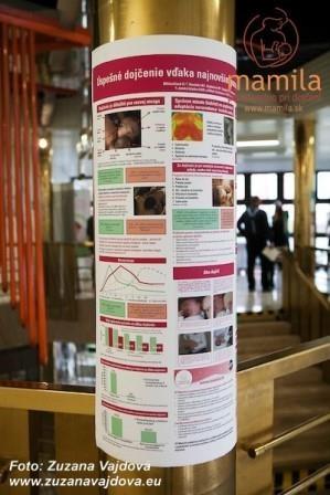 Plagát o. z. MAMILA o základných krokoch pre úspešné dojčenie