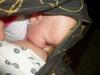 Dojčenie bábätka v šatke