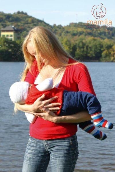 Dojčenie pri jazere, spoločné chvíľky šťastia